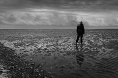 Stepping Carefully (tabulator_1) Tags: beach southport sands