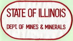 State Of IL Dept. Of Mines & Minerals patch (Coalminer5) Tags: coalmining coalminer coalmemorabilia coalcollectibles coalmineinspector mining miningmemorabilia miningcollectible miningartifacts patch sewonpatch illinoiscoal bentonil bentonillinois