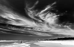 Big country, big sky (jenni 101) Tags: skancheli australianbeach blackwhite hmm queensland surfersparadise thespit cityskyline nikond7200