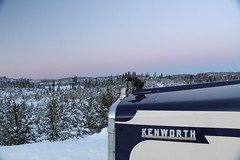 Duckin' around (jr-transport) Tags: kenworth w900 logging heavy winter ontario forest oldschool