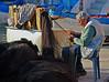 Concentrato - Concentrated (Ola55) Tags: ola55 italy procida porto pescatore harbour port fisherman barche boats reti nets blu blue mare sea molo dock italians bellitalia