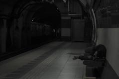invierno (Mortimer Zbikowski) Tags: world persona tristeza calle sad metro buenos aires homeless subte subterraneo carranza refugio sick durmiendo ministro subtrain pordiosero