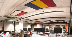 CandyCrush_Pano (Co2nscience) Tags: class ceiling acoustic panels noise absorption agileacoustics officenoisereduction