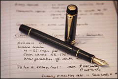 Parker Duofold International 2 (*monz*) Tags: black fountain pen ink canon notes journal international nib parker 18k duofold bulletproof noodlers 5dmk2