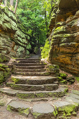Stairs To Shelter (kschmitz2) Tags: park ohio rock us moss stair unitedstates hike trail national valley cuyahoga overlook peninsula ledges canoneos5dmk3 ef2470mmf28lii