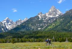 Cycling Grand Teton (afagen) Tags: mountain bicycle nps wyoming nationalparkservice grandteton jacksonhole grandtetonnationalpark