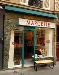 Paris - 2015 (Hanoi1933) Tags: france fashion sign women magasin femme boutique storefront mode marcelle vitrine enseigne parigi devanture 2015   parisstreetart  pariswallart