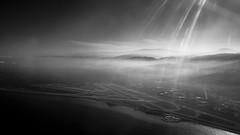 * (Timos L) Tags: bw lebanon window fog airplane landscape airport fromabove panasonic mount g6 beirut takeoff hariri rafic againstthesun m43 contrelumiere micro43 1232mm timosl