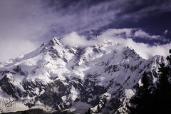 The Killer Mountain ( Nanga Parbat ) (iffi's photography) Tags: travel pakistan mountain snow clouds trekking landscape zoom glaciers peaks northernareas himalayas gilgit nangaparbat killermountain baltistan fairymeadows northernareasofpakistan 9thhighest