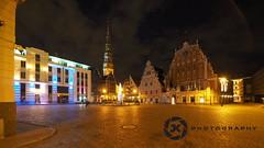 Riga At Night (jan-krux photography - thx for 1.4 Mio+ views) Tags: city travel light architecture night buildings square abend licht reisen nacht platz olympus latvia worldheritagesite stadt riga haeuser lettland em1 blackheads baltikum houseoftheblackheads