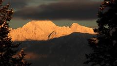 Magic hour on Fisher Peak (windyhill623) Tags: mountain fisherpeak sunset alpenglow cloud rockymountains mountainrange hughesrange eveninglight afternoonlight evening afternoon afterglow shadow snow peak mountainpeak winter beautifullight