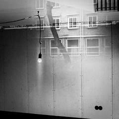 (Nico_1962) Tags: square vierkant leica summicron bw zwartwit m8 rangefinder reflections weerspeigeling gloeilamp bulb leicam manualfocus primelens