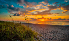 The sunrises of Hollywood Beach. (The Sergeant AGS (A city guy)) Tags: sunrise sand seashore sea beachscape beach walking waterways sun colors skies seaway nautical saltwater seaview exploration earlyinthemorning tourism