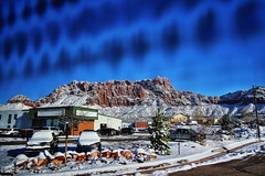 Southern Utah Winter (Albert Jafar) Tags: southernutahwinter winterscenery snow butte outdoor bluesky photographerswharf ngc worldtrekker