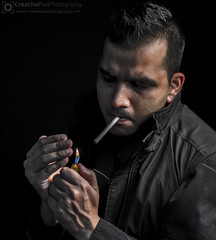 Smoking Low-key Photography
