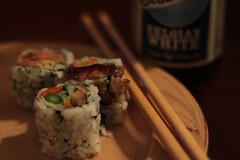 020.365 Takeout (riaskiff) Tags: 365the2017edition 3652017 day20365 20jan17 takeout sushi bluemoon beer home