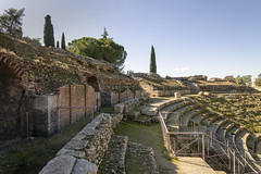 Roman Amphitheater (rschnaible) Tags: merida spain espana europe sightseeing tour tourist old historic history roman ruins 1216 bc amphitheater coliseum building architecture