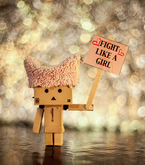 Fight (GrizzlysGhost) Tags: danbo danboard toy toys protest statement bokeh politics womensmarch tuckfrump