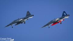 """Dive Bombing"" (Caspar Smit) Tags: northrop f5 tiger swiss sion lsms vex aircraft fighter jet aviation airforce fliegerstaffel nikon d7000 j3073 j3038"