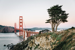 Golden Gate from Battery Godfrey (IanTeraokaPhotography) Tags: sanfrancisco california bridge bayarea photography landscape cityscape ocean beach sunset goldenhour golden hour nature tree scenic explore travle travel