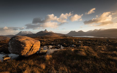 An Stac. Happy New Year! (Roksoff) Tags: happynewyear winter snow lochassynt sutherland stacpollaidh suilven culmor canisp scottishhighlands glencanisp scotland nikond810 leefilters 1635mmf4 nikond800 70200mmf28 culbeag rock moor sunrise sunset