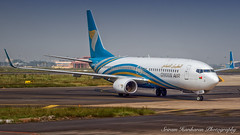 A4O-BAA Oman Air Boeing 737-81M(WL) - cn 60391 (Sri_AT72 (Sriram Hariharan Photography)) Tags: oman air airways aircraft omanair wy oma 253 maa vomm chennai international airport meenambakkam aviation photography plane spotting passion avgeek geek december 2016