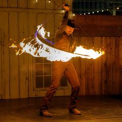 I Fell Into a Burnin' Ring of Fire (Non Paratus) Tags: losangeles countyfair pomona losangelescountyfair lariat lasso rope performer fire