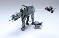Nanofigure-scaled AT-AT v2.0 (GolPlaysWithLego) Tags: lego starwars atat moc micro