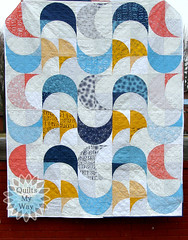 Moonlight quilt (Gosia @ Quilts My Way) Tags: quilt quilting quilts quiltsmyway fabrics moda patchwork modern