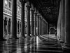 Roma - 2016 (Enzo D.) Tags: basilicadisanpaolo biancoenero blackandwhite bn church column italia italy man olympus perspective roma rome aisle wwwenzodemartinocom lazio it