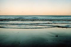 The Blue (chaps1) Tags: water beach ishootfilm portra 35mm f2 nikon