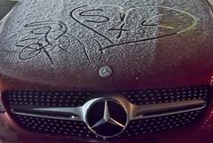 S love Mercedes (hans 1960) Tags: love heart mercedes car eis ice frost graffity logo stern star herz schmiererei liebe winter