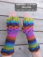 crocodileMitts 02e (zreekee) Tags: crochet sparkledoomdesigns saskatchewan rainbow mitts bonitadesigns