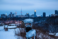 View Point @ Governor's Bridge Lookout (A Great Capture) Tags: bluehour blue hour cn tower cntower brickworks evergreen winter l'hiver 2016 cityscape urbanscape eos digital dslr skyline towers urbannature scenery scenic outdoor outdoors snow neige explorethedonvalley donvalley superpark clouds nuvole wolken sky himmel dusk colours colors city downtown lights urban cold weather don valley brick works park donvalleybrickworkspark look out lookout weston quarry garden westonquarrygarden governors bridge governorsbridgelookout