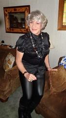 The Modern Woman (Laurette Victoria) Tags: blouse leggings gray laurette woman necklace