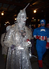 Tinman (Slip Mahoney) Tags: nyc newyorkcity greenwichvillage halloweenparade halloween costume mask zombie monster sexy 6thavenue washingtonsquare tinman tinwoodsman wizardofoz oz wizard scarecrow dorothy captain america