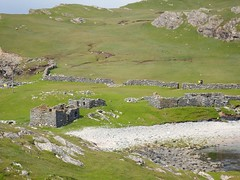Beach from a distance (nz_willowherb) Tags: summer history truck see scotland tour visit factor shetland activities stonehouses fishingstation northmavine to fethaland go farhaaf