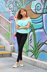 Trice Nagusara (Trice Nagusara) Tags: street blue brown black color colors look fashion bag gold outfit paint photoshoot pants pastel philippines mint style wallart icon flats pastels manila looks styles casual bags chic ensemble fashionshoot outfits petite petites trice stylish paints lightblue marieclaire fashionable lapetite bgc lookbook blackandblue fashionicon skinnyjeans offshoulder streetshoot ootd funoutfit casualoutfit topshoppants offshouldertop offshouldertops styleforpetite styleforpetites tricenagusara lapetitetrice casualootd sephtrice sephcham sephchamtricenagusara tricenagusarasephcham triceseph josephcham