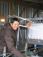Henning Building Savannah in EAA Hangar