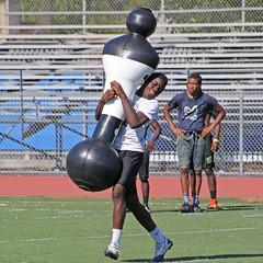 D129552S (RobHelfman) Tags: sports losangeles football highschool practice shadowman crenshaw
