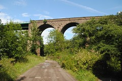 From Flood Gates cottage to the viaduct (zawtowers) Tags: park river countryside afternoon view cheshire flood roman gates sunday cottage lakes relaxing peaceful railway calm viaduct stockport leisure stroll marple goyt