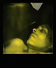 Fetishist #1 (Josu Sein) Tags: selfnude nude selfportrait sex mystery surrealism expressionism polaroid impossibleproject duochrome analog