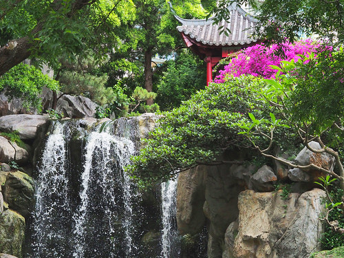 Chinese Garden Waterfall