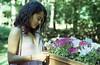 Daughter (kcoretep) Tags: minoltamaxxum9xi 50mmf17 kodakportra kodakportra800 summer summerflowers