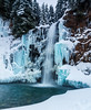 Patience is a virtue. (Brendinni) Tags: waterfall franklinfalls cascades dennycreek ice winter water trees cold blue green icicles rock landscape washingtonstate ndfilter nd polarized