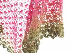 20161208_160654 (tannie) Tags: amsterdam amsterdamzuidoost colour crochet fun goudenleeuw hobby merino nederland noordholland shawl southbayshawl zuidoost green pink roze tulip