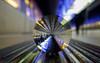 Passengers (katrin glaesmann) Tags: hamburg tube metro ubahn station ubahnhof hvv u4 hafencityuniversität colour train crystalball gekugelt