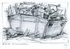 Wolfram Zimmer: Fate - Schicksal (ein_quadratmeter) Tags: r kunst malerei gemälde wolfram zimmer konzeptkunst objektkunst mein freiburg burg birkenhof kirchzarten ausstellung ausstellungen peinture exhibition exhibitions bleistift zeichnung pencil drawing müll container wegwerfen abfall dumpster throwing away waste