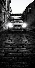 Lexus IS300H (35mm disjointed) Tags: lexus is300h hybrid car android phone south shields headlights back street alley cobbles