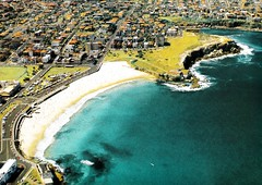 A scanned aerial image of Coogee Beach, NSW (davemail66) Tags: coogeebeach nsw